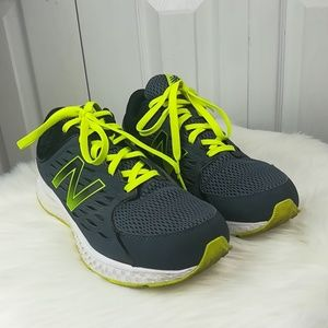 New Balance 420 gray and green tennis shoes